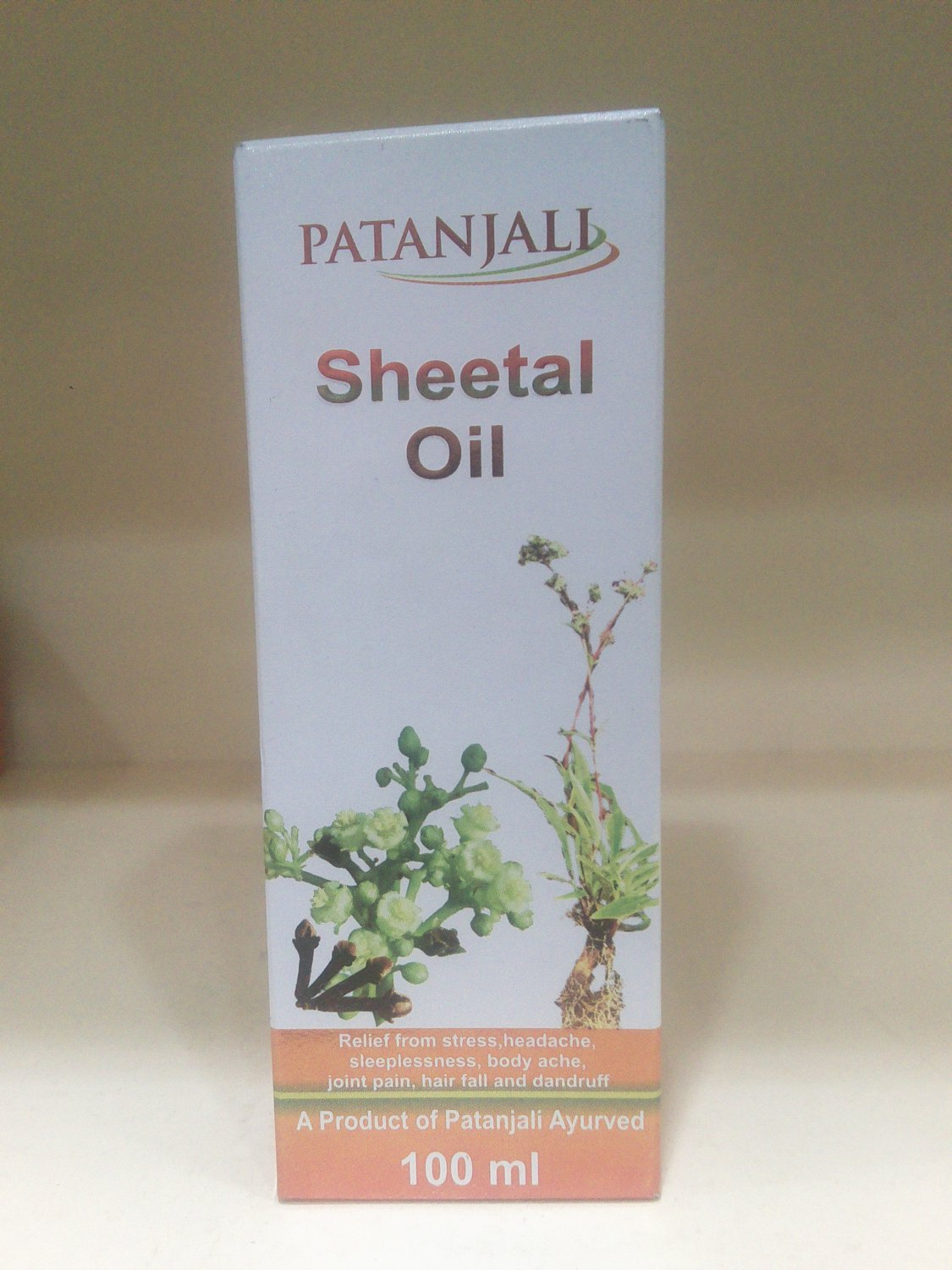 Baba Ramdev Patanjali Sheetal Hair Oil 100ml Free Shipping