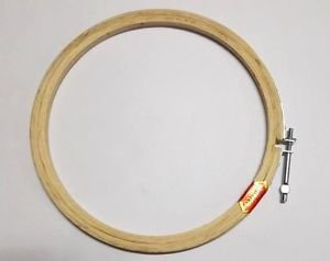 10 inch Hoop Ring Wooden Cross Stitch Machine Embroidery Sewing Needlework Quilt
