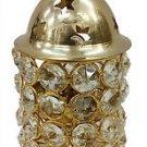 Brass Akhand Diya Diamond Crystal Deepak Dia Akhand Jyot , Magical Lantern Brass