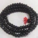 8 mm Black Sandalwood Mala / Necklace / Prayer Beads Free Shipping
