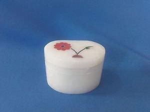 "Whie Marble Inlay Work Jewelry box  2""x1.5x1 Inch Size Free Shipp1"