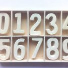 Wooden Number Templates set of 10 Height of 4 cm inch number 5 pics