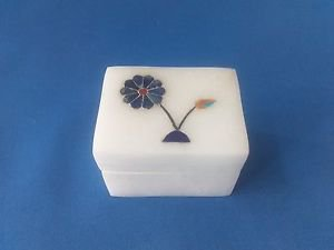 Jewelry Box Handicraft White Marble Flora inlay work jewelry box,trinket box $$$