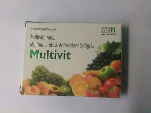 Multivit Softgel Cap 1x10 for Multivitamin Multimineral Free Shipping