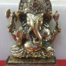 Brass Ganesha Statue Hindu God Puja Idol Ganesh Home Decor Art Free Shipping $$$