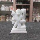 "4"" White Marble Sculpture Hanuman Hindus Religious Bajrangbali Art Handmade"