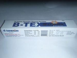 2x12gm B-tex super ointment Eczema, Ringworm, Itches & Cold cracks Free Ship