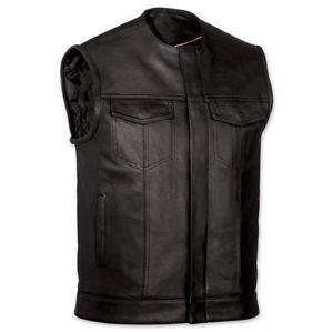 FMC Mens Collarless Vest  with Zipper plus Snap Front & 2 Gun Pockets, FIM639NOC
