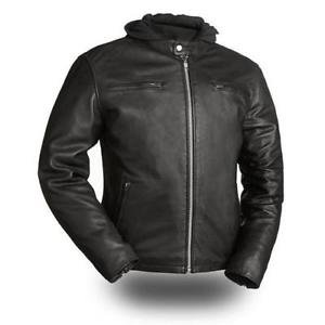 "First Classics Men's Leather ""Street Cruiser"" Motorcycle Jacket FIM248CCBZ"