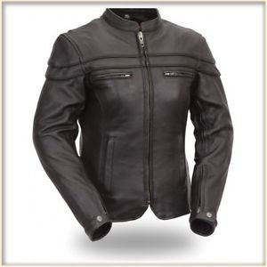 FMC Leather Motorcycle Jacket-Women�s Sporty Scooter Jacket.-FIL162NTCZ