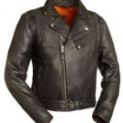 FMC Leather Biker Jacket 60's New Yorker Men's Updated M/C Jacket FIM210NOCZ