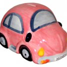 Glazed Ceramic Pink Beetle Style Car Money Box