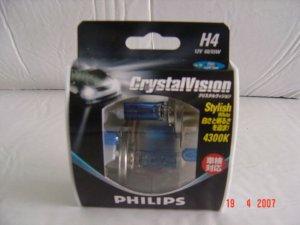 PHILIPS HALOGEN BULB CRYSTAL VISION H1 / H3 / H4 MYR 400