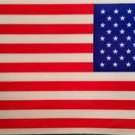 """American Flag Decal  3"""" × 5"""" Window Sticker Lot of 100 Decals Made in U.S.A. NEW"""