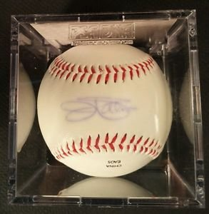Palmer Fingers Perry Sutton 4 Signed Baseballs HOF PSADNA CERT UV Protect Cubes