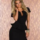 Summer New Hot Sale Women Work Suit Dress U-Neck Ol Peplum Cocktail Dress W203078B