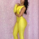 Women One Piece Outfits Jumpsuits Bodycon Backless Sexy Plus Size Rompers Playsuit W203713B