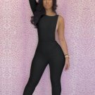 Women One Piece Outfits Jumpsuits Bodycon Backless Sexy Plus Size Rompers Playsuit W203713C