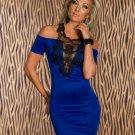 New Off The Shoulder Lace Trim Mini Dress Slim Hip Wrapped Women Party Club Dresses W84314C