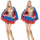 2017 Wonder Women Fashion Sexy Superhero Corset carnival Cosplay Halloween Cape Costume W542859