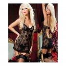 Sexy Erotic Transparent Lingerie Women Mini Baby Doll Sleepwear W385166