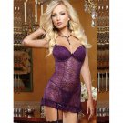 Purple See Through Sexy Lingerie For Women Mature Women Babydoll W655556C