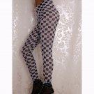 Grid Porcelain Geometry Pencil Leggings Plaid Casual Long Leggings WL049A