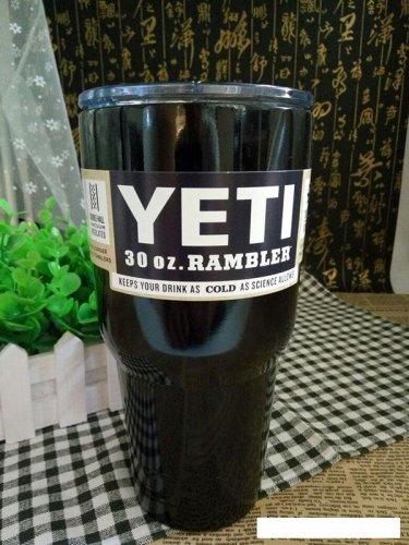 Colored YETI Rambler Tumbler 30 Oz Black Color Stainless