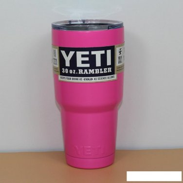 Colored YETI Rambler Tumbler 30 Oz Pink Color Stainless