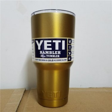 Colored YETI Rambler Tumbler 30 Oz Gold Color Stainless