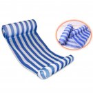 Blue Stripes Color Floating Inflatable Air Mattress for Swimming Activity