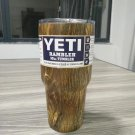Camouflage Wood Colored YETI Rambler Tumbler 30 Oz Stainless FREE SHIPPING