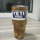 Camouflage Wood Colored YETI Rambler Tumbler 30 Oz Stainless FREE SHIPPING