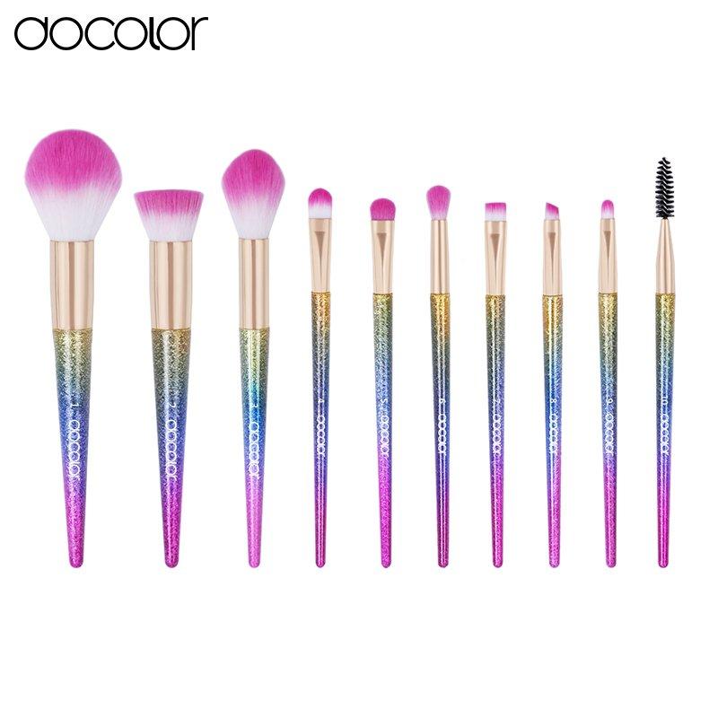 Docolor High Quality Professional Handcrafted Fantasy 10 Pcs Makeup Brush Set
