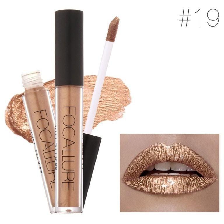 Hot Focallure #19 PYT Authentic Waterproof Lip Gloss Liquid Lipstick US FREE SHIPPING