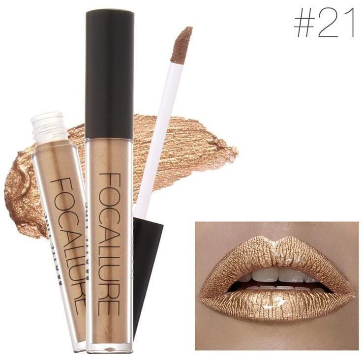 Hot Focallure #21 DM Authentic Waterproof Lip Gloss Liquid Lipstick US FREE SHIPPING