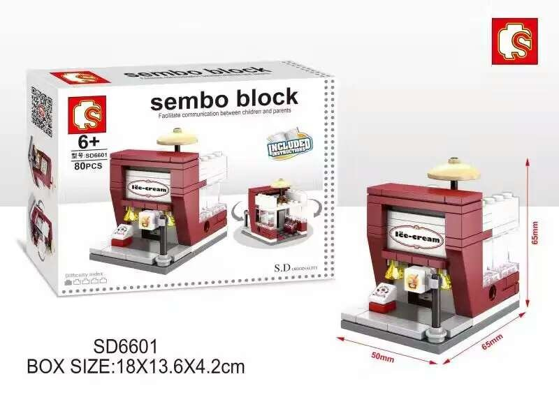 Sembo Blocks Mini World Ice Cream Shop Sd6601