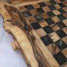 SOLID OLIVE WOOD CHESS BOARD WITH FIGURES HAND-CRAFTED ARTE LEGNO MADE IN ITALY