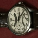 Festina  F16275/5 retrograde stainless steel leather strap dual time watch