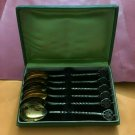 SILVER 916 SPOONS SET -- ANTIC