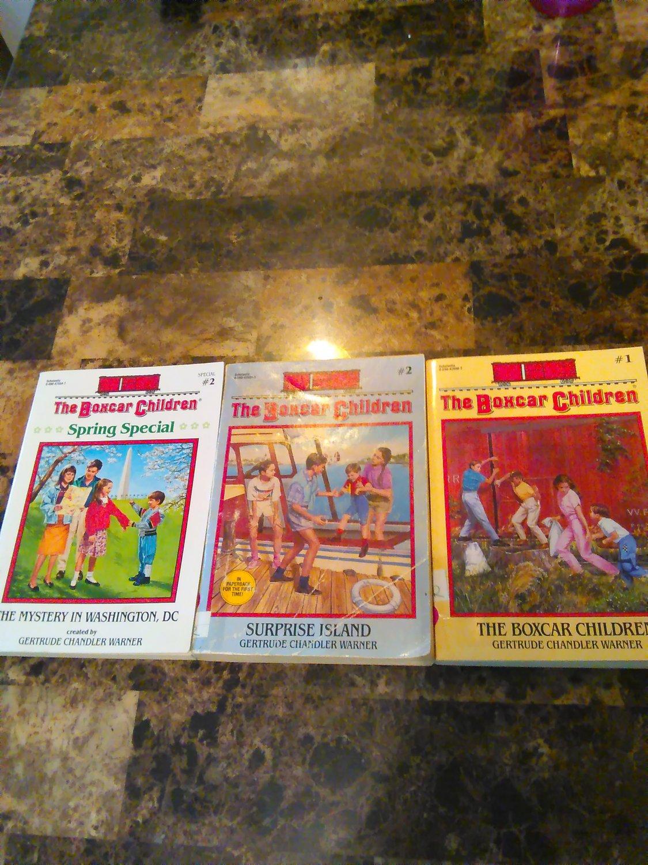 Box Car Children Books (set of 3) Original, Surprise Island; Mystery of Washington D.C.