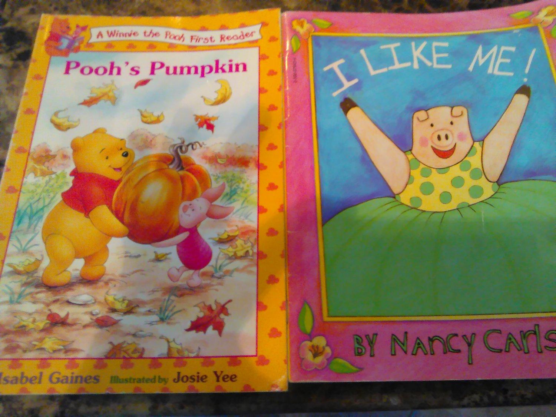 Pooh's pumpkin and I Like Me children's books