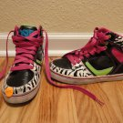 Youth Girls size 2 Zebra High top shoes