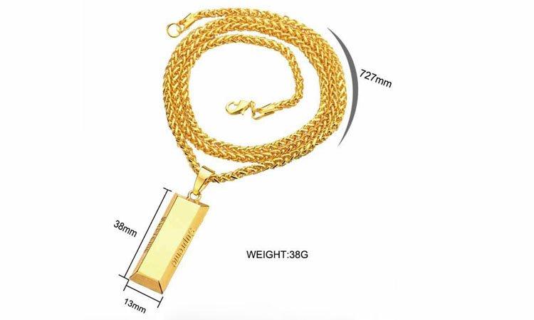 Hiphop Fashion Cube Bar SUPREME Necklace&Pendant Charm Men Chain Long Necklace