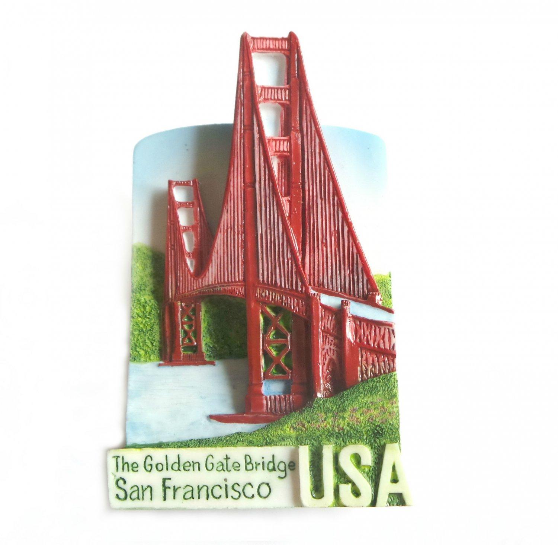 Golden Gate Bridge, SAN FRANCISCO USA, Resin 3D Fridge Magnet