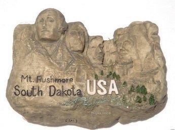 Mt. Rushmore, S. DAKOTA USA, Resin 3D Fridge Magnet