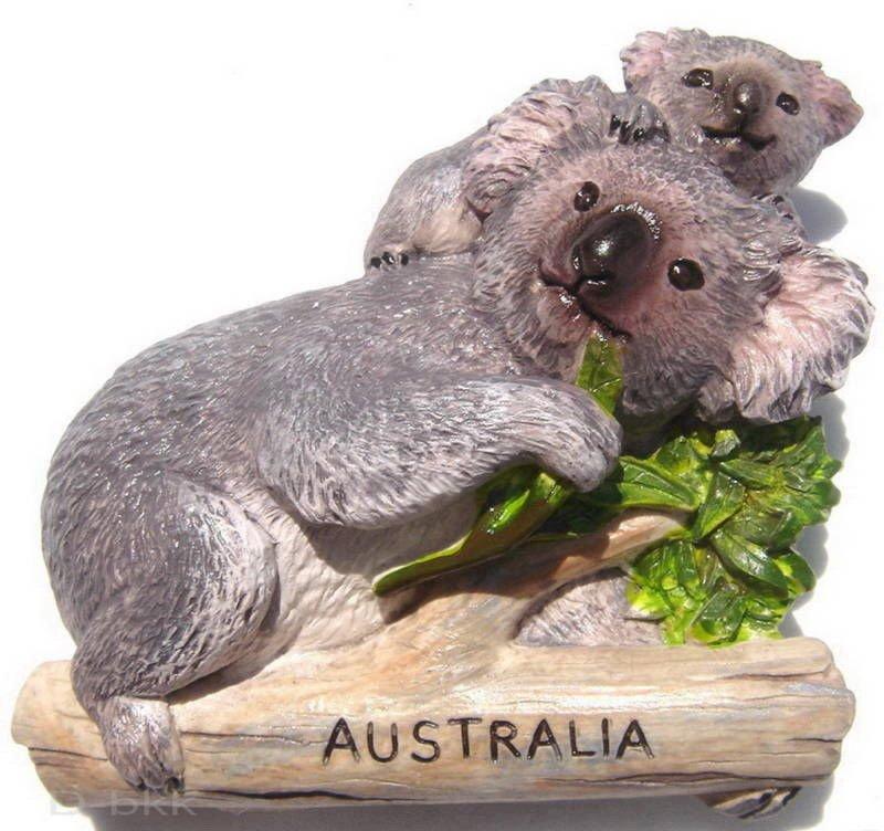 Souvenir Koala, AUSTRALIA , High Quality Resin 3D Fridge Magnet