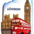 Bus Big Ben, LONDON United Kingdom, High Quality Resin 3D Fridge Magnet