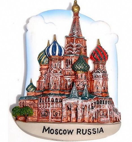 Souvenir St.Basil's Cathedral, MOSCOW  Russia, High Quality Resin 3D Fridge Magnet