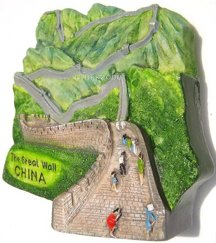Souvenir Great Wall, CHINA, High Quality Resin 3D Fridge Magnet